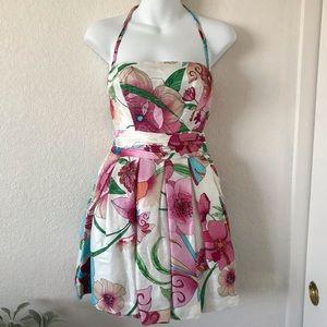 Bebe Fun and Flirty Floral Dress